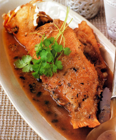 Braised Grouper in Black Bean Sauce Recipe